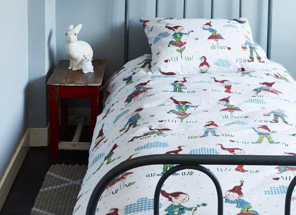 Beddinghouse dekbedovertrek Gnomes blue