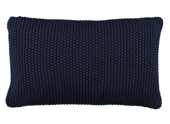 Marc O'Polo sierkussen Nordic Knit indigo blue 30x60