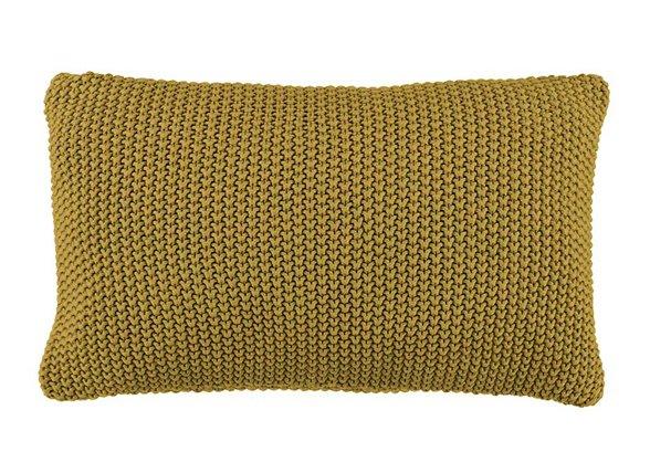 Marc O'Polo sierkussen Nordic Knit oil yellow 30x60