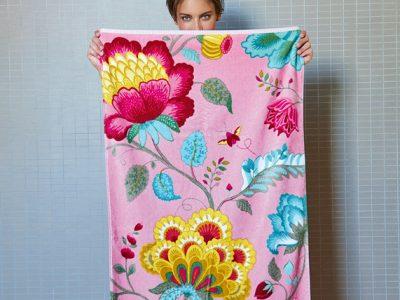 Pip Studio badgoed Floral Fantasy pink