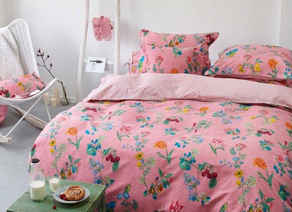 Pip Studio dekbedovertrek Cherry Pip pink