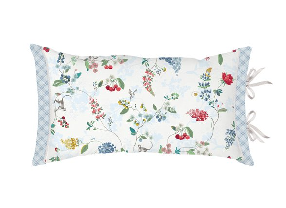 Pip Studio sierkussen Hummingbirds wit 35x60