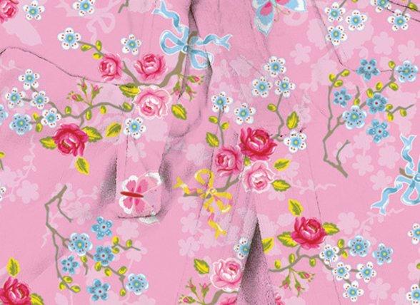 Pip Studio badjas Chinese Blossom roze