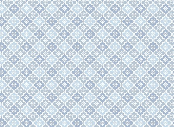 Pip Studio hoeslaken Petit Tile blauw