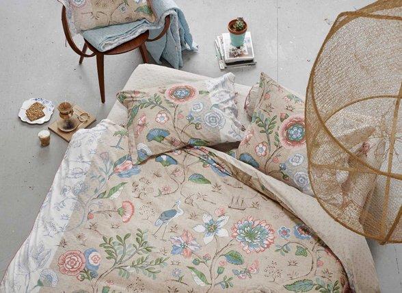 pip studio dekbedovertrek spring to life khaki morpheus. Black Bedroom Furniture Sets. Home Design Ideas