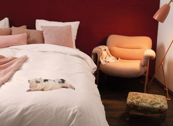 Snurk dekbedovertrek Miss Peggy roze