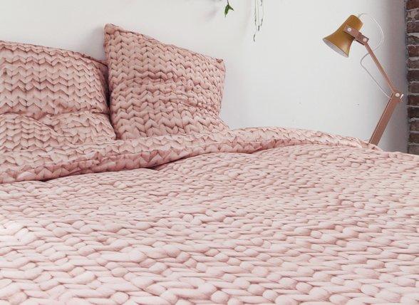 Snurk dekbedovertrek flanel Twirre dusty roze