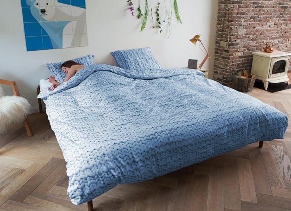 Snurk dekbedovertrek flanel Twirre blauw