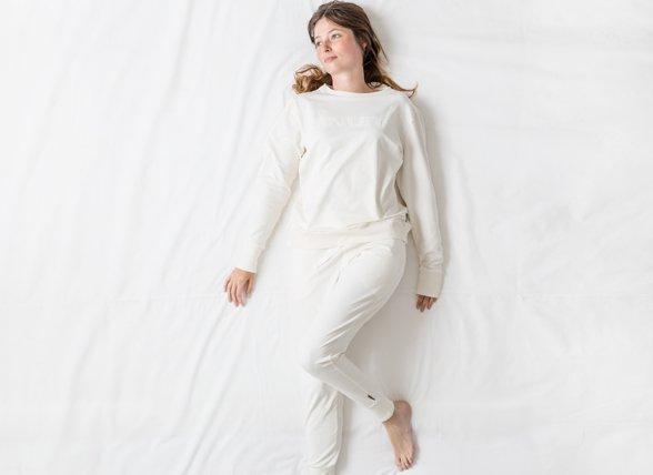 Snurk Homewear Uni white sweater dames