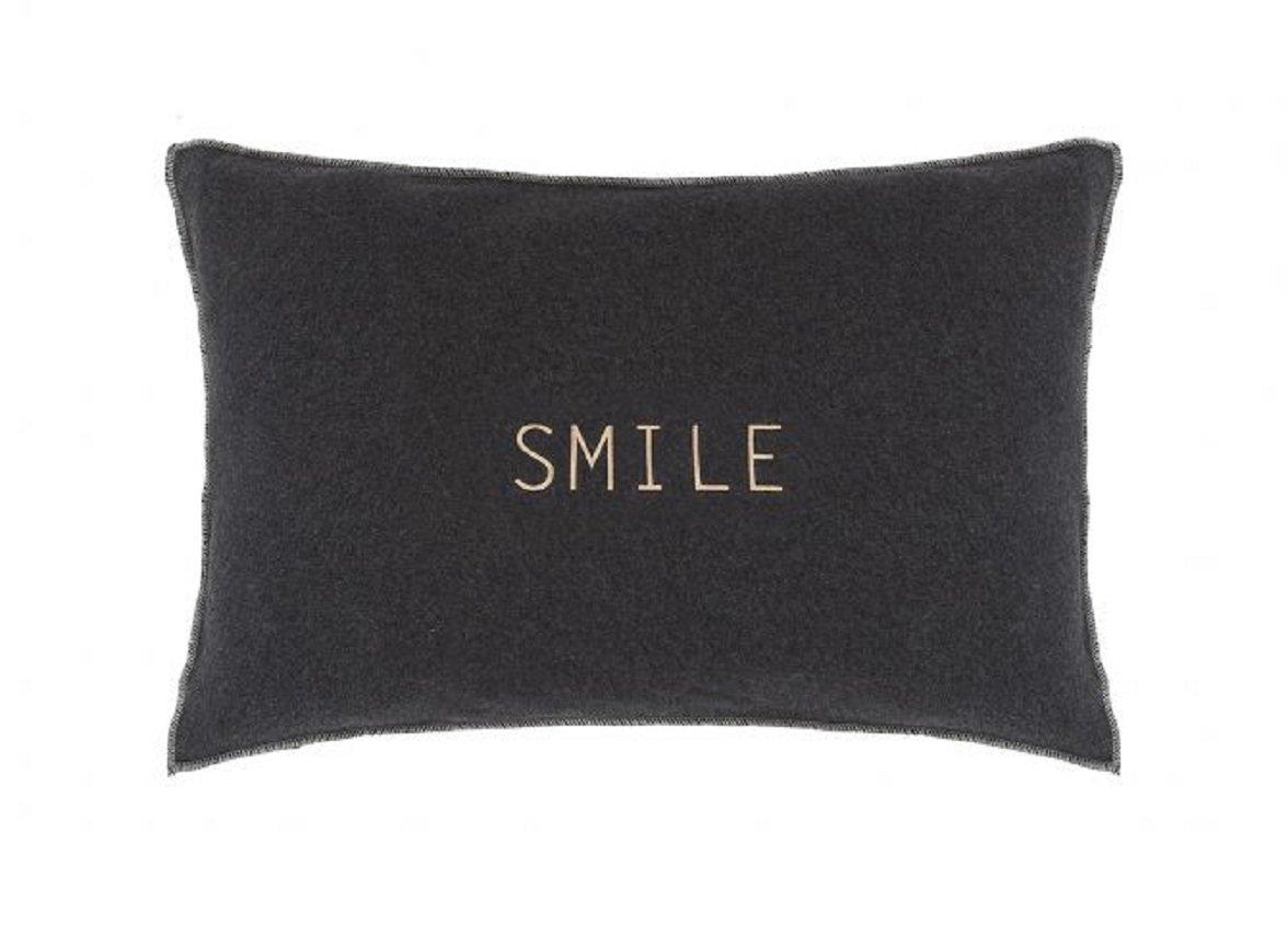 House in Style sierkussen Smile antraciet