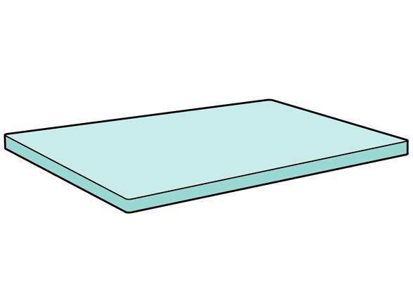 Essenza Home topper hoeslaken katoen perkal, wit