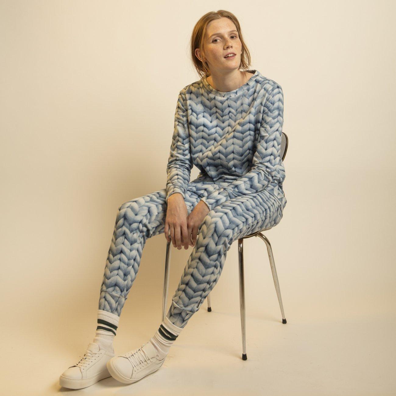 Snurk Homewear Twirre blauw sweater dames