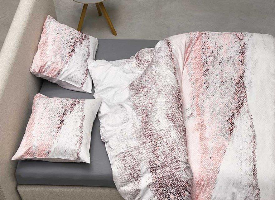 Essenza Home dekbedovertrek Noya roze
