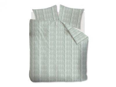 At Home dekbedovertrek Fold Grey Green