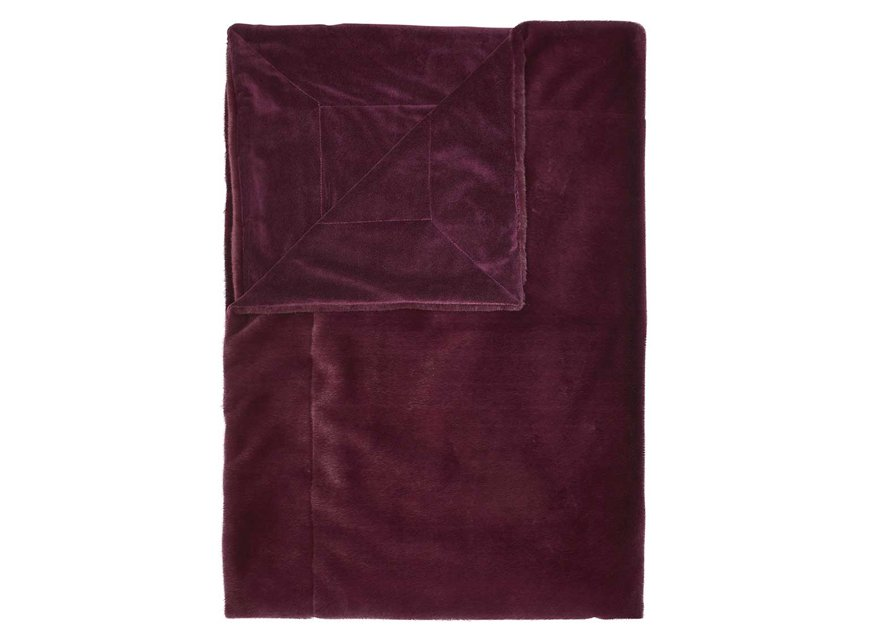 Essenza Home plaid Furry burgundy