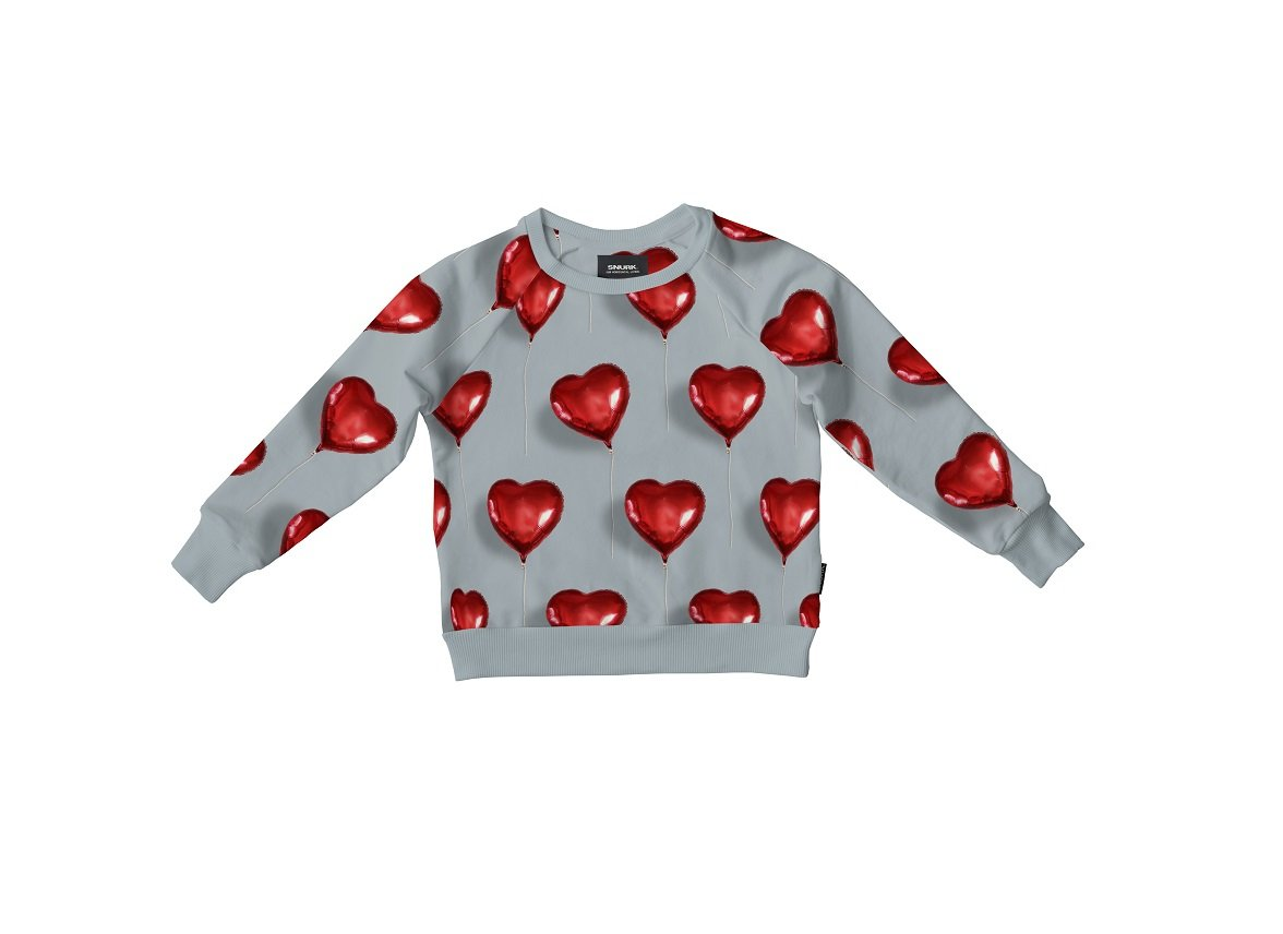 Snurk Homewear I Heart Balloon sweater kinderen