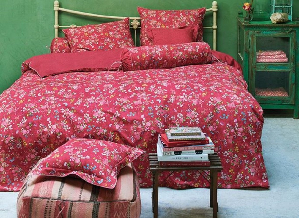 Pip Studio Slaapkamer : Pip studio dekbedovertrek chinese rose bouquet red morpheus