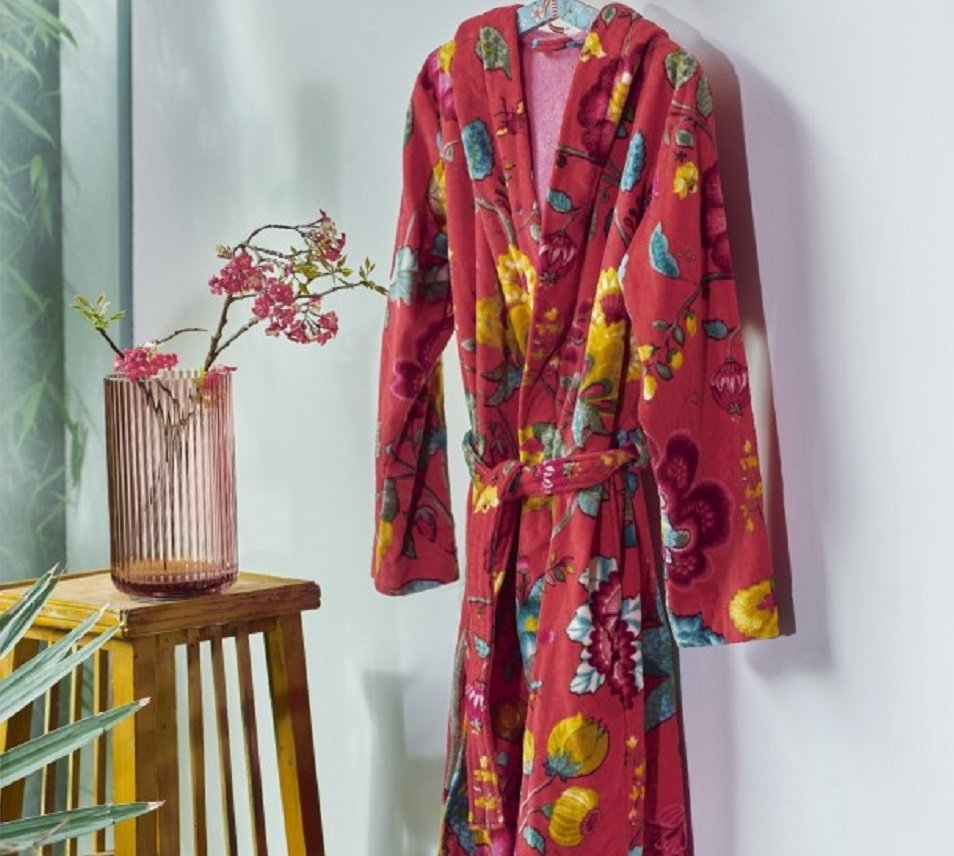 Pip Studio badjas Floral Fantasy rood