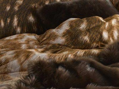 Essenza Home dekbedovertrek flanel Bambi bruin
