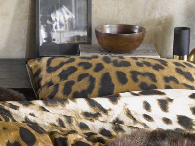 Essenza Home dekbedovertrek flanel Leopard bruin