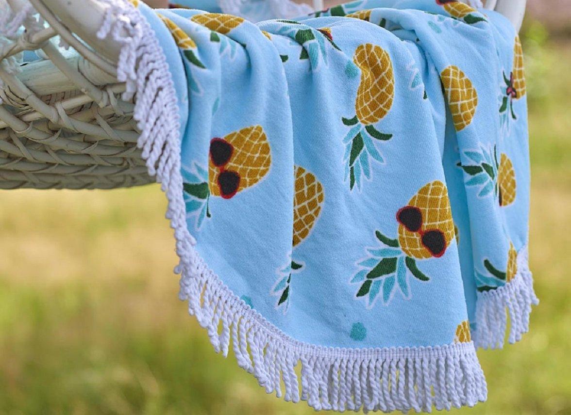 Covers & Co strandlaken Pineapple aqua