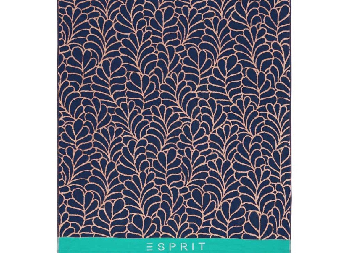 Esprit strandlaken Leaf blue