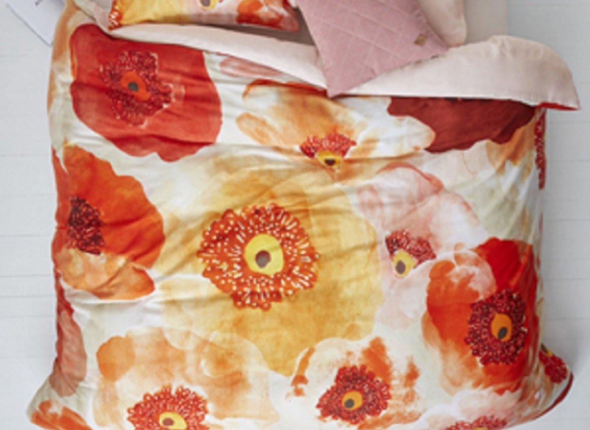 Oilily dekbedovertrek Faded Poppy multi
