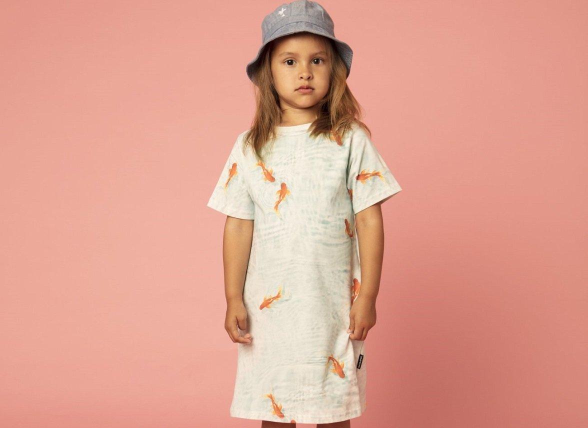 Snurk Homewear Goldfish T-shirt dress kinderen