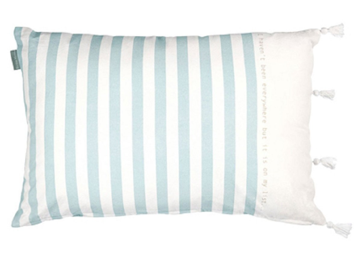 Riviera Maison sierkussen Traveler light blue