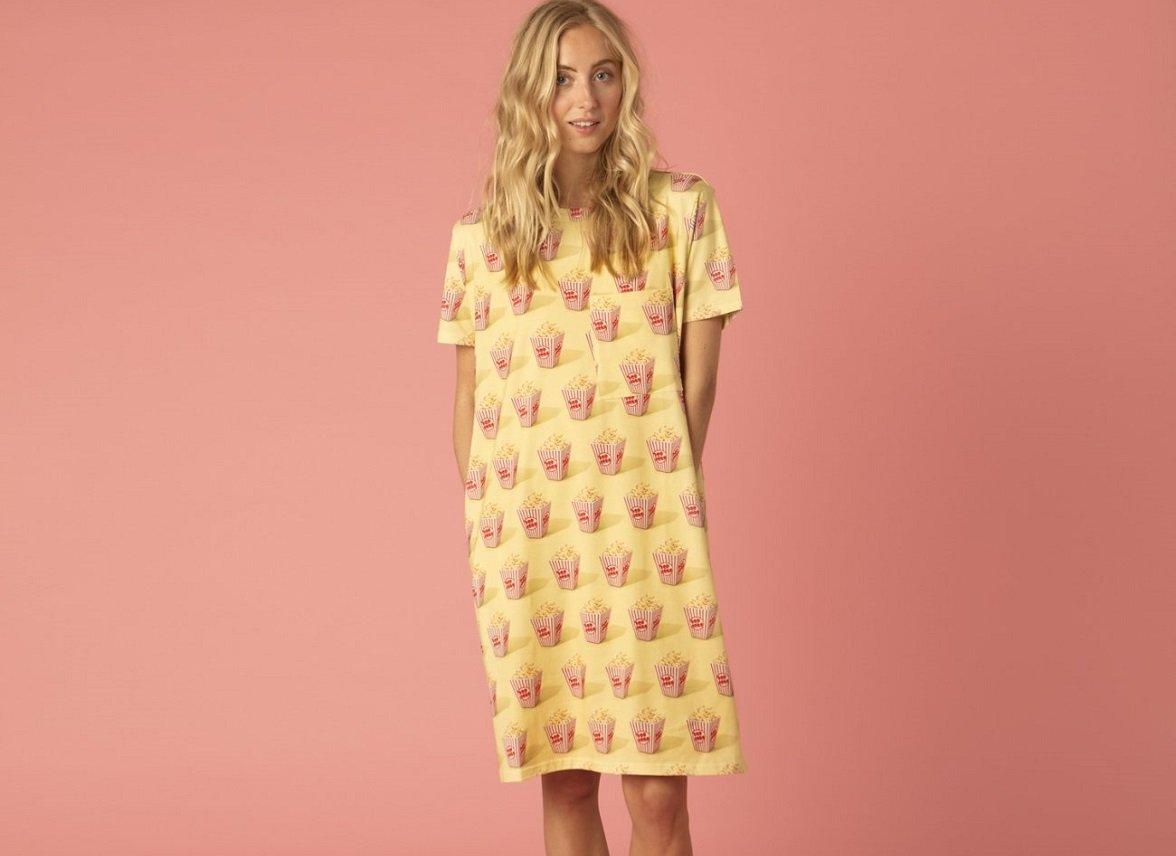 Snurk Homewear Popcorn T-shirt dress dames
