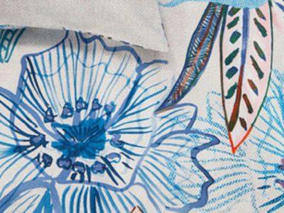 Oilily dekbedovertrek Rose Dust bluegreen