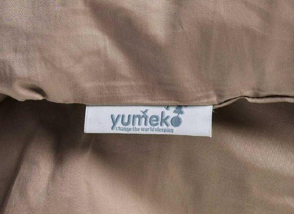 Yumeko dekbedovertrek satijn warm taupe