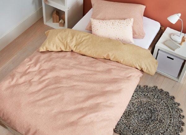 Beddinghouse dekbedovertrek flanel Boet soft pink