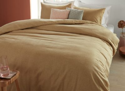 Beddinghouse dekbedovertrek flanel Frost gold