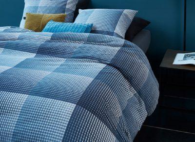 Beddinghouse dekbedovertrek flanel Graham blue