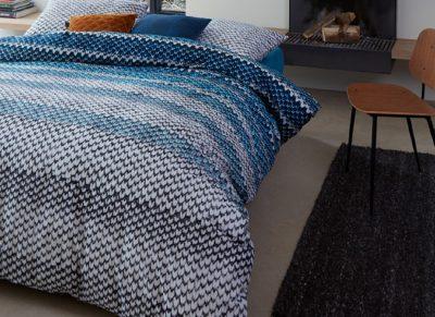 Beddinghouse dekbedovertrek flanel Jarno blue