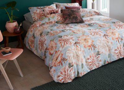 Beddinghouse dekbedovertrek Linen Flower natural