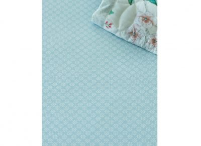Pip Studio hoeslaken Dotty Star blue/green