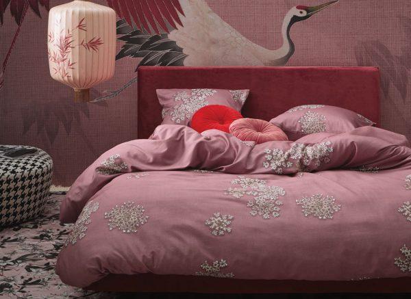 Essenza Home dekbedovertrek Lauren dusty rose