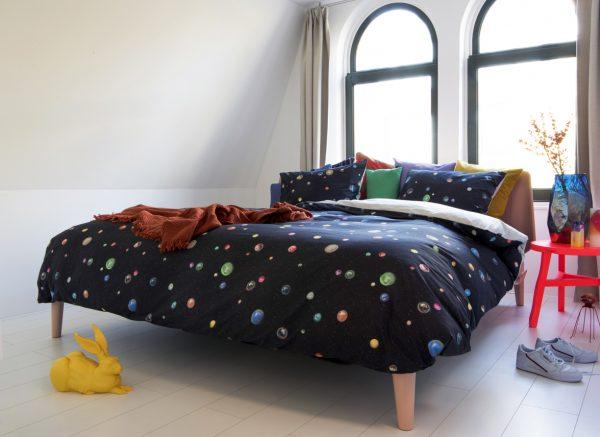 Snurk dekbedovertrek Marble Universe