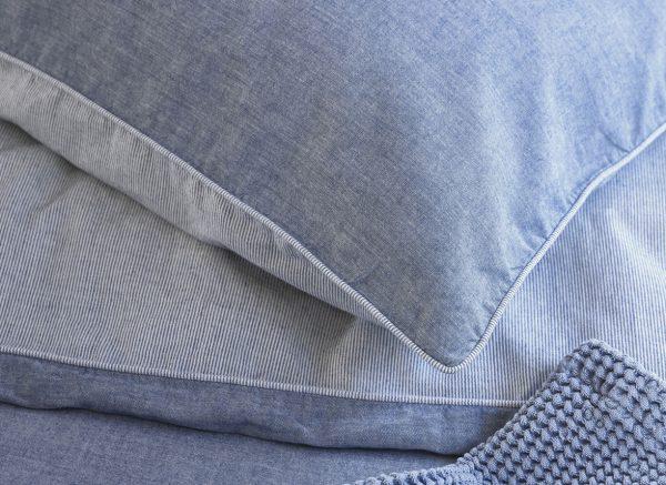 Marc O'Polo dekbedovertrek Washed Chambray blue