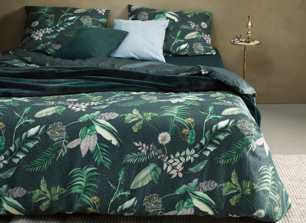 Essenza Home dekbedovertrek Zeno darkgreen