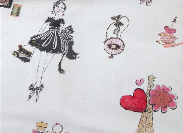 Beddinghouse dekbedovertrek Paris Girl pink