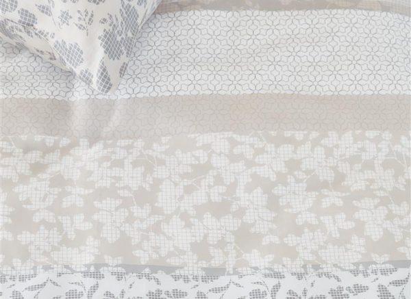 Beddinghouse dekbedovertrek Floreana grey