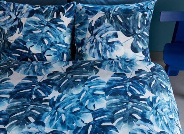Beddinghouse dekbedovertrek Hawaii blue