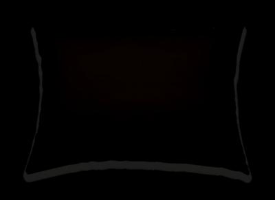 Morph Design kussensloop, perkal katoen 200tc, zwart