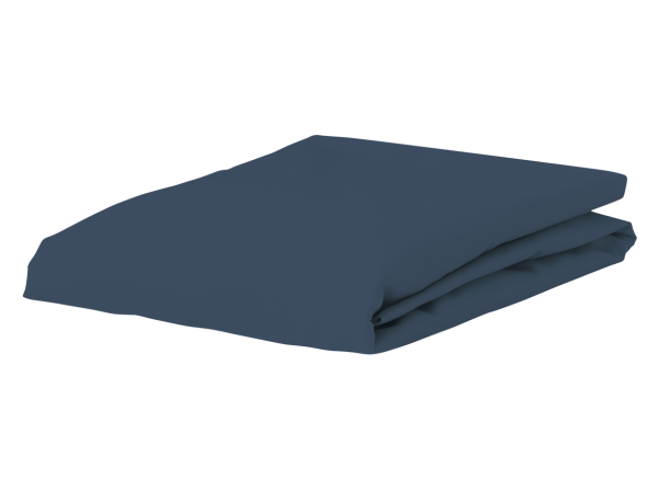 Morph Design perkal hoeslaken 200tc, denim