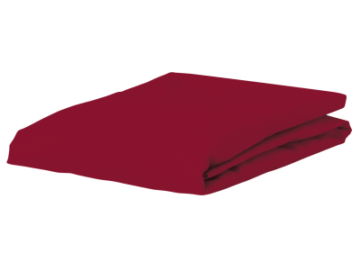 Morph Design perkal hoeslaken 200tc, wijnrood