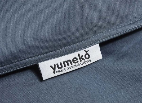 Yumeko dekbedovertrek washed katoen satijn blue