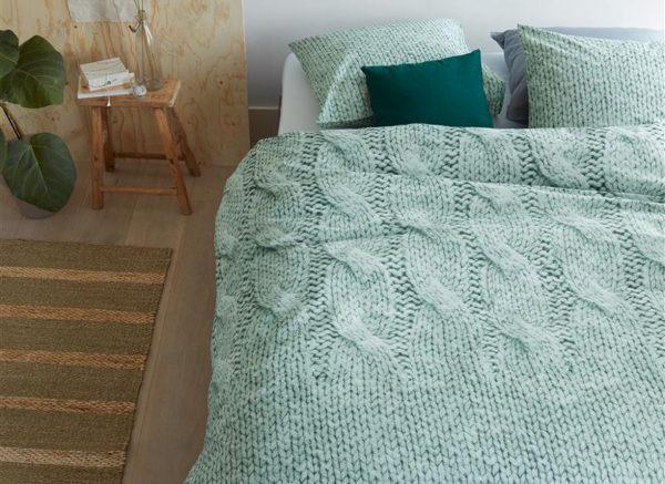 Ariadne at Home dekbedovertrek Cuddly green